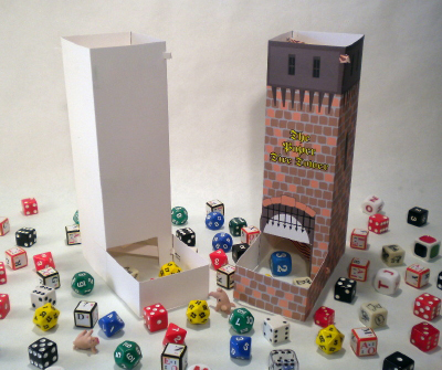 The Paper Dice Tower Is A Fully Functional That You Can Make Yourself With Few Pieces Of Card Stock Some Tools And Pdf Provided